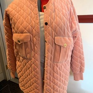 Sonia Rykiel quilted velour jacket
